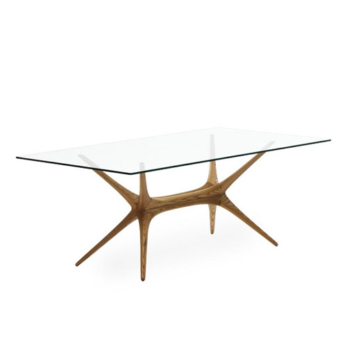 Artek X-Frame Glass Top Table