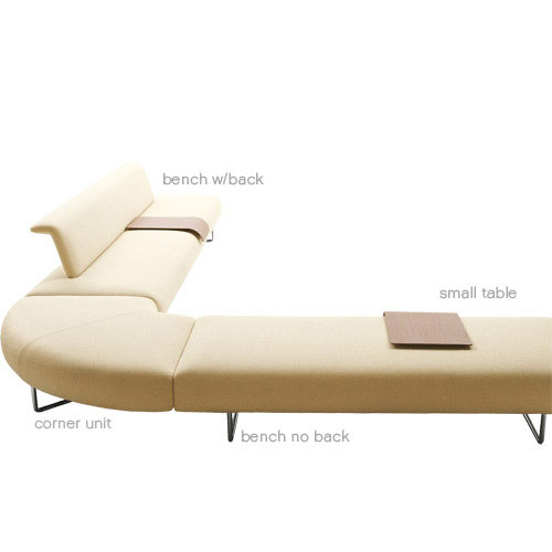 B&B Italia Medium Cloud Bench No Back