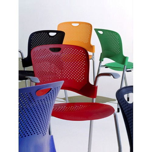 Herman Miller Caper Stacking Chair With Flexnet Seat and No Arms