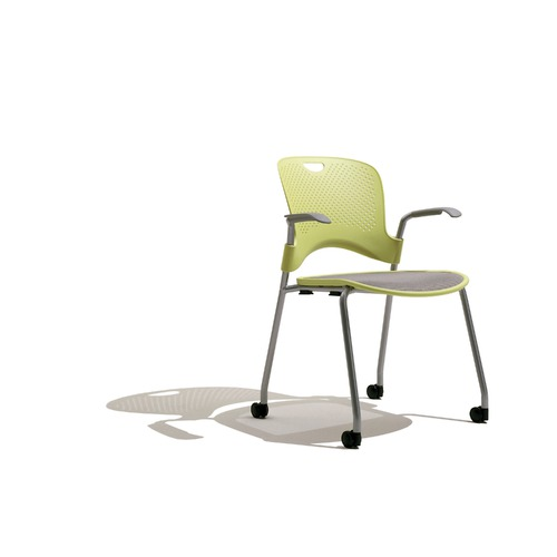 Herman Miller Caper Stacking Chair With Flexnet Seat and Arms