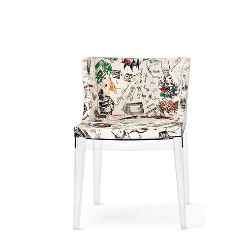 Kartell Mademoiselle Guest Arm Chair with Transparent Leg