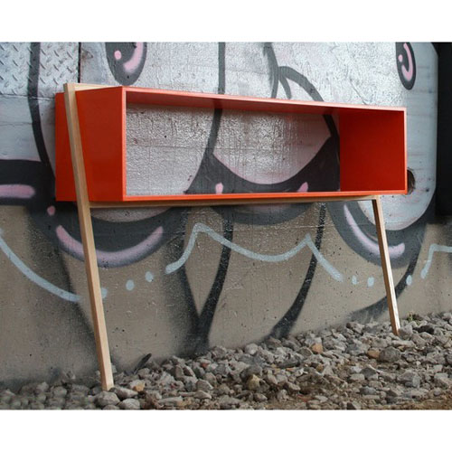 &Then Leaning Man Console Table