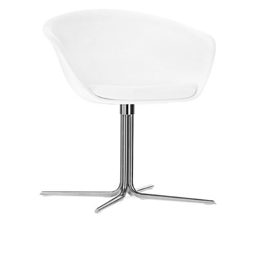 Arper Duna Chair On Pedestal Swivel Base with Soft Removable Cushion