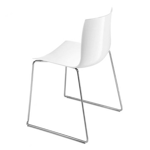 Arper Catifa 46 Sled Base Chair with Single-Tone Seat