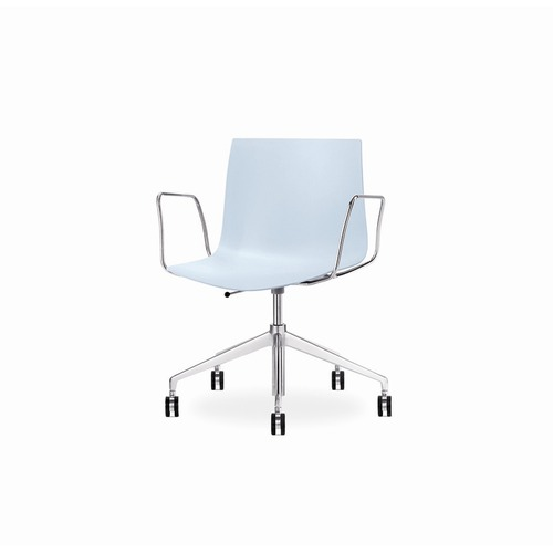 Arper Catifa 46 Task Arm Chair with Single-Tone Seat