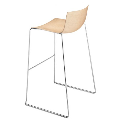 Arper Catifa 46 Barstool with Wood Seat