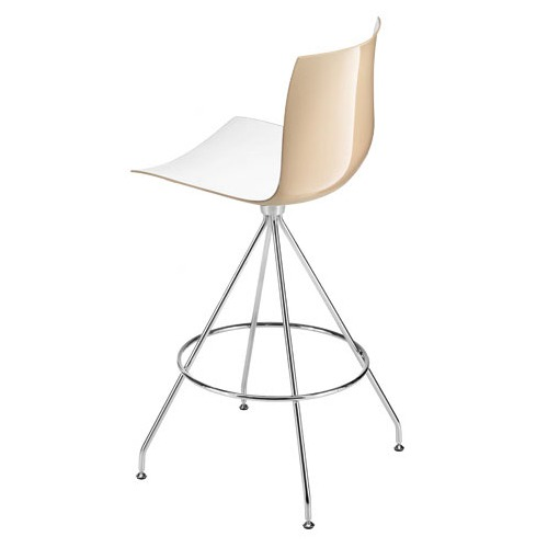 Arper Catifa 46 Counter Stool with Two-Tone Seat