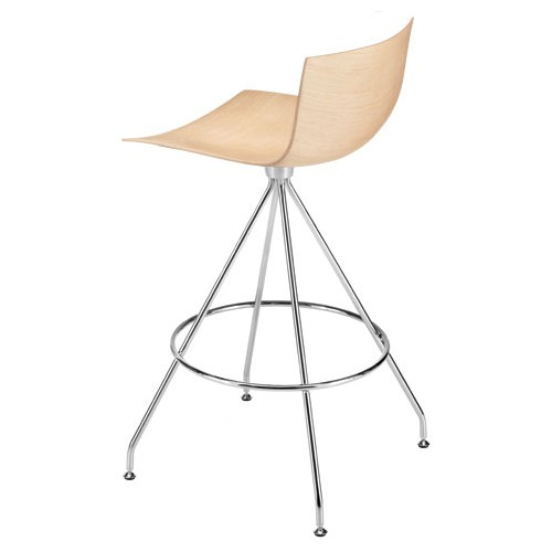 Arper Catifa 46 Counter Stool with Wood Seat
