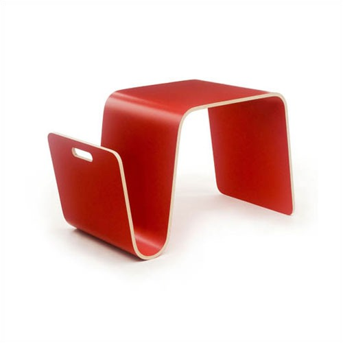 Offi MAG Table in Laminate Red