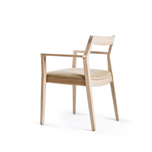 Knoll Marc Krusin Side Chair with Arms and Open Back