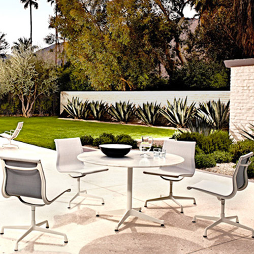 Eames Aluminum Group Side Chair Outdoor