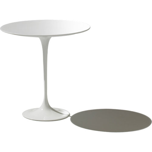 Saarinen Side Table with White Laminate