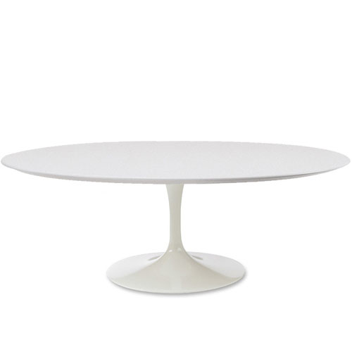 Saarinen Coffee Table with White Laminate