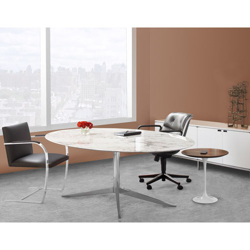 Florence Knoll 78 Inch Oval Table