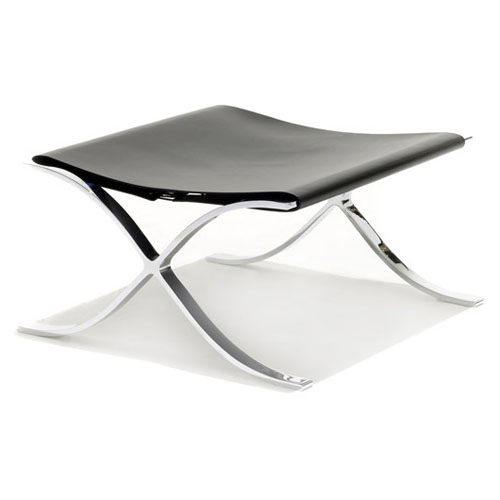 Knoll Barcelona Stool With Cowhide