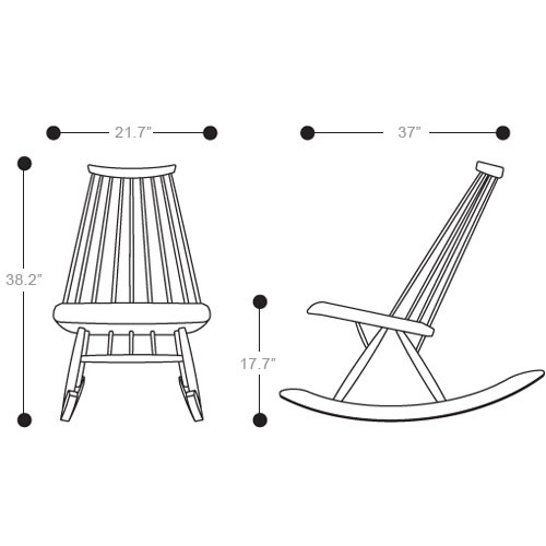 Artek Mademoiselle Rocking Chair