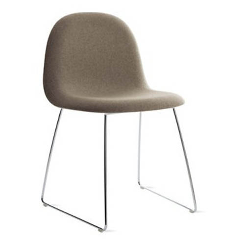 Gubi Chair with Chrome Base