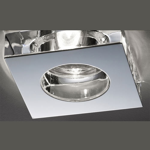 Fabbian Lui Steel and Crystal - LED Recessed Lighting