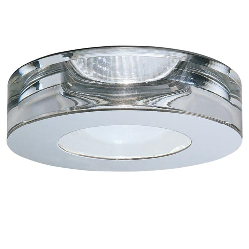 Fabbian Lei Steel and Crystal - Line Voltage Recessed Lighting